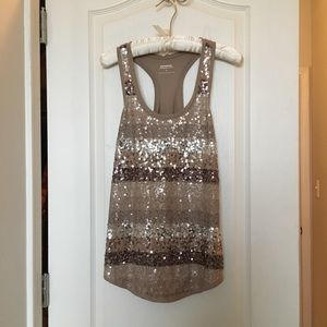 EXPRESS sequined top size SMALL NWOT